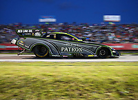 Apr 21, 2017; Baytown, TX, USA; NHRA funny car driver Alexis DeJoria during qualifying for the Springnationals at Royal Purple Raceway. Mandatory Credit: Mark J. Rebilas-USA TODAY Sports