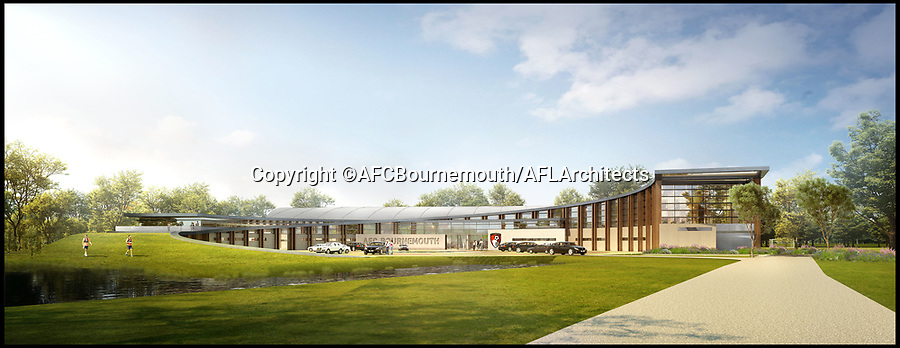 BNPS.co.uk (01202 558833)<br /> Pic: AFCBournemouth/AFL/BNPS<br /> <br /> AFC Bournemouth have submitted new plans to BCP Council for a new £15 million training complex on the edge of the town.<br /> <br /> The club currently have planning permission to develop the 57-acre former Canford Magna Golf Club site which they bought for £3.75 million in 2017.<br /> <br /> The Cherries have been drawing up revised, improved plans for the state-of-the art centre, which have now been submitted as an amendment to the existing permission.<br /> <br /> Once approved, the development will begin with immediate effect and the phased build will bring AFC Bournemouth's first team, development squad, academy and pre-academy training operations into one location.<br /> <br /> The centre will offer first-class facilities, including nine full-size pitches, an indoor artificial playing surface and an outdoor artificial playing surface, as well as state-of-the-art medical, sports science and rehabilitation facilities, administrative space and a press conference theatre.
