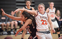 #22 Kendahl Wallis-Lang. The Occidental College women's basketball team take on Chapman University in Rush Gym, Jan. 12, 2016.<br /> (Photo by Marc Campos, Occidental College Photographer)