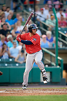 Pawtucket Red Sox third baseman Mike Olt (2) at bat during a game against the Rochester Red Wings on July 4, 2018 at Frontier Field in Rochester, New York.  Pawtucket defeated Rochester 6-5.  (Mike Janes/Four Seam Images)