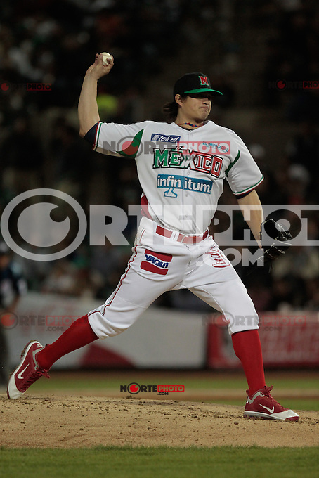 lanzador Luis Mendoza.durante  la Serie del Caribe 2013  de Beisbol,  Mexico  vs Puerto Rico,  en el estadio Sonora el 1 de febrero de 2013 en Hermosillo.....©(foto:Baldemar de los Llanos/NortePhoto)........During the game of the Caribbean series of Baseball 2013 between Mexico  vs Puerto Rico. .©(foto:Baldemar de los Llanos/NortePhoto)..http://mlb.mlb.com/mlb/events/winterleagues/league.jsp?league=cse