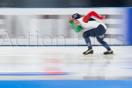 January 29th 2017, Sportforum, Berlin, Germany; ISU Speed Skating World Cup;  ISU Speed Skating World Cup  1000m Division B;  David Bosa (ITA)