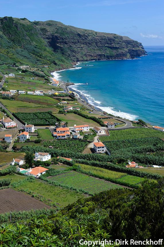 Blick auf Praia Formosa auf der Insel Santa Maria, Azoren, Portugal