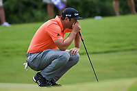 Jon Rahm (ESP) lines up his putt on 8 during round 3 of the WGC FedEx St. Jude Invitational, TPC Southwind, Memphis, Tennessee, USA. 7/27/2019.<br /> Picture Ken Murray / Golffile.ie<br /> <br /> All photo usage must carry mandatory copyright credit (© Golffile | Ken Murray)