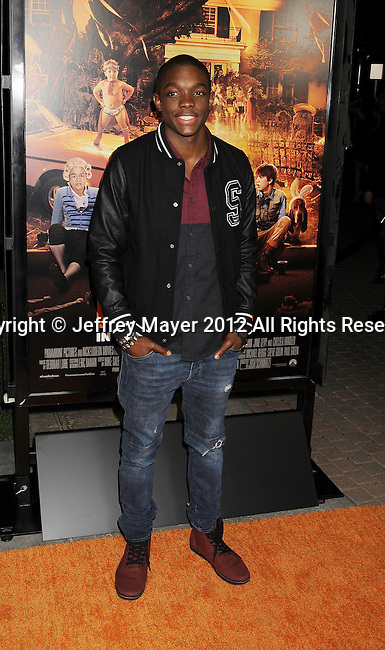 HOLLYWOOD, CA - OCTOBER 25: Carlos Knight arrives at the Los Angeles premiere of 'Fun Size' at Paramount Studios on October 25, 2012 in Hollywood, California.