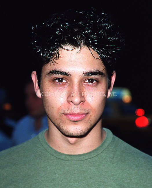 Actor Wilmer Valderrama attend amfAR's 11th Annual Boathouse Rock event at Tavern on the Green. New York, June 17, 2002. Please byline: Alecsey Boldeskul/NY Photo Press.   ..*PAY-PER-USE*      ....NY Photo Press:  ..phone (646) 267-6913;   ..e-mail: info@nyphotopress.com