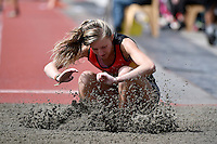 Leanna Ryan in action during the Athletics - NZ Track and Field Championships at Newtown Park, Newtown, New Zealand on Friday 6 March 2015. <br /> Photo by Masanori Udagawa. <br /> www.photowellington.photoshelter.com.