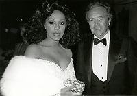 ***Vic Damone Has Passed Away aged 89***<br /> FILE PHOTO: Diahann Carroll and Vic Damone during 38th Annual Primetime Emmy Awards at Pasadena Civic Auditorium in Pasadena, California, United States. 9/21/1986 <br /> CAP/MPI/WAL<br /> &copy;WAL/MPI/Capital Pictures