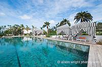 The Caribbean, Anguilla. The newly renovated Malliouhana Hotel and Spa pool.