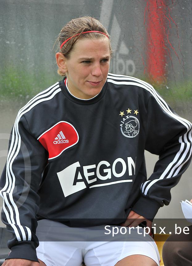 RSC Anderlecht Dames - Ajax Amsterdam : Chantal De Ridder.foto DAVID CATRY / Nikonpro.be