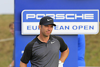 Paul Casey (ENG) on the 18th tee during Saturday's Round 3 of the Porsche European Open 2018 held at Green Eagle Golf Courses, Hamburg Germany. 28th July 2018.<br /> Picture: Eoin Clarke | Golffile<br /> <br /> <br /> All photos usage must carry mandatory copyright credit (&copy; Golffile | Eoin Clarke)