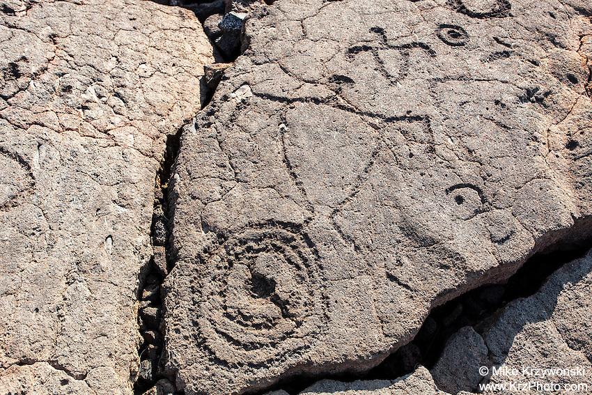 Petroglyphs at the Waikoloa Petroglyph Field, Big Island, Hawaii