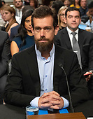 """Jack Dorsey, Co-Founder and Chief Executive Officer, Twitter, waits to give testimony prior to a United States Senate Select Committee on Intelligence hearing """"to examine foreign influence operations' use of social media platforms"""" on Capitol Hill in Washington, DC on Wednesday, September 5, 2018.<br /> Credit: Ron Sachs / CNP<br /> (RESTRICTION: NO New York or New Jersey Newspapers or newspapers within a 75 mile radius of New York City)"""