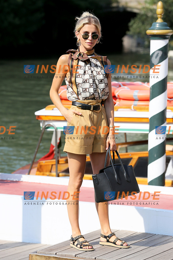 VENICE, ITALY - AUGUST 30: Caroline Daur arrives in Darsena Excelsior during the 76th Venice Film Festival  on August 30, 2019 in Venice, Italy. (Photo by Marck Cape/Inside Foto)<br /> Venezia 30/08/2019