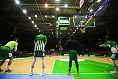7th January 2018, San Pablo Sports Municipal Palace, Seville, Spain; Endesa League Basketball, Real Betis Energia Plus versus FC Barcelona Lassa; San Pablo Stadium during the team warm up