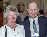 Sir John Cope, MP, Conservative Party, UK, October, 1994, with wife at annual conference. 199410002571<br />