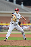 Mahoning Valley Scrappers pitcher Matt Whitehouse (44) during a game against the Batavia Muckdogs on August 31, 2013 at Dwyer Stadium in Batavia, New York.  Batavia defeated Mahoning Valley 11-0  (Mike Janes/Four Seam Images)