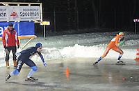 SCHAATSEN: ALTEVEER: IJsclub Alteveer, 22-01-2013, NK Kortebaanschaatsen dames, Leslie Koen, Bente van den Berge, ©foto Martin de Jong