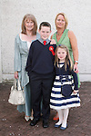 Conor Beenham with Nicola and Sophie and his gran, Imelda Noone at Donacarney NS Confirmation in The Star of the Sea Church...Photo NEWSFILE/Jenny Matthews.(Photo credit should read Jenny Matthews/NEWSFILE)....This Picture has been sent you under the condtions enclosed by:.Newsfile Ltd..The Studio,.Millmount Abbey,.Drogheda,.Co Meath..Ireland..Tel: +353(0)41-9871240.Fax: +353(0)41-9871260.GSM: +353(0)86-2500958.email: pictures@newsfile.ie.www.newsfile.ie.FTP: 193.120.102.198.