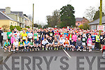 The runners line up at the start of the An Riocht 5km in aid of the Fitzmaurice family in Castleisland on Sunday morning..