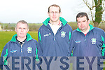 BALLYDUFF: Members of Ballyduff Hurling coaches attending the County Coaching Conference at Mercy Mounthawk school on Saturday l-r: John Michael O'Connor, Joseph Murphy and William Quinlan. Mike McCarthy..
