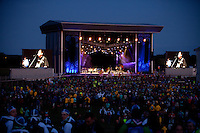 The main stage during the IST opening ceremony. Photo: Kim Rask/Scouterna