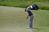 June 14th 2017, Erin, Wisconsin, USA; Jordan Spieth putts on the 13th hole during the practice round for the 117th US Open on June 14, 2017 at Erin Hills in Erin, Wisconsin