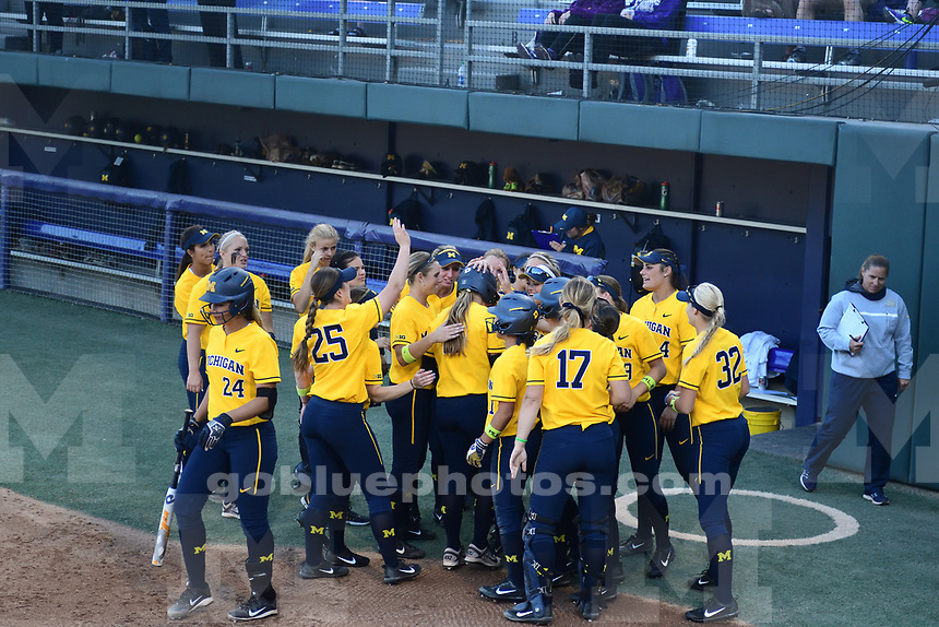 The University of Michigan softball team competes in their third game of the Seattle, WA NCAA Regional Championship. May 20, 2017