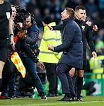 29.12.2019 Celtic v Rangers: Steven Gerrard celebrates at full time