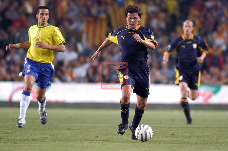 Belleti, Roger & Jordi Cruyff. Catalunya vs Brasil: 2-5