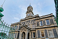 Pictured: The Town Hall in Llanelli.  Wednesday 09 March 2018<br /> Re: The effect that the Scarlets RFC has had in the town of Llanelli in Carmarthenshire and the west Wales region.