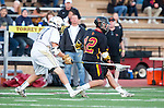 San Diego, CA 05/25/13 - Caleb Young (La Costa Canyon #11) and Greg Newman (Torrey Pines #12) in action during the 2013 CIF San Diego Section Open DIvision Boys Lacrosse Championship game.  Torrey Pines defeated La Costa Canyon 7-5.