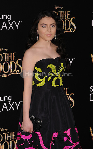 New York,NY-December 8: Lilla Crawford Attends the 'Into The Woods' world premiere at the Ziegfeld Theater on December 8, 2014. Credit: John Palmer/MediaPunch