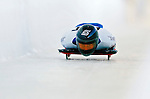 18 November 2005: Costanza Zanoletti of Italy slides down the track to take 17th place at the 2005 FIBT World Cup Women's Skeleton competition at the Verizon Sports Complex, in Lake Placid, NY. Mandatory Photo Credit: Ed Wolfstein.