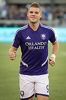 SAN JOSE,  - AUGUST 31: Chris Mueller #9 of the Orlando City SC during a game between Orlando City SC and San Jose Earthquakes at Avaya Stadium on September 1, 2019 in San Jose, .