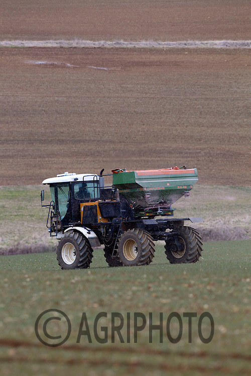 Applying Nitram to first Wheats in Rutland.Picture Tim Scrivener date taken 1st March 2013.Mobile 07850 303986 e-mail tim@agriphoto.com.          ?.covering agriculture in the Uk?....