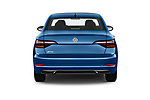 Straight rear view of a 2019 Volkswagen Jetta SEL Premium 4 Door Sedan stock images