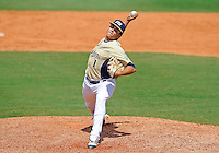 Florida International University right handed pitcher Jose Lazaro (1) plays against Florida Atlantic University. FAU won the game 9-3 on March 18, 2012 at Miami, Florida.