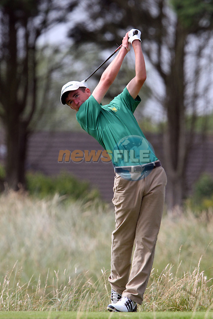 Sean Flanagan (IRL) on the 4th on the Final Day at the 2012 Boys Home Internationals at Co.Louth Golf Club in Baltray, Co.Louth...(Photo credit should read Jenny Matthews/NEWSFILE)...