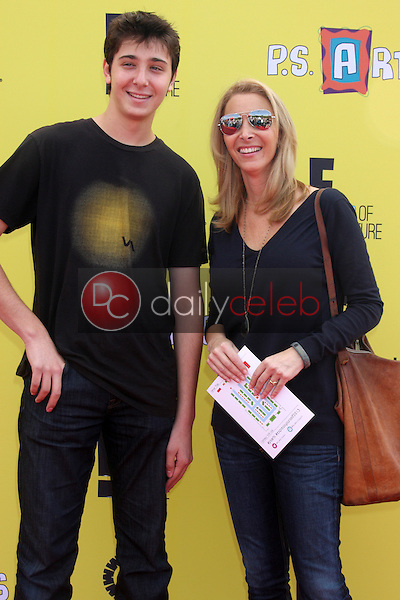 Julian Murray Stern, Lisa Kudrow<br /> at P.S. Arts 'Express Yourself' 2013, Barker Hangar, Santa Monica, CA 11-17-13<br /> Dave Edwards/DailyCeleb.com 818-249-4998