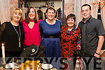 Deirdre O'Regan, Farmers Bridge, Tralee, who celebrated her 40th birthday in the Stone House restaurant, Tralee, l-r:  Joyce Barnet, Tonya White, Deirdre O'Regan, Mary O'Sullivan and Killian O'Regan.