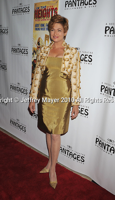 "HOLLYWOOD, CA. - June 23: Carolyn Hennessy arrives at Broadway LA Presents: ""In The Heights"" - Opening Night at the Pantages Theatre on June 23, 2010 in Hollywood, California.."