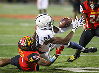 College Park, MD - November 25, 2017: Penn State Nittany Lions wide receiver Juwan Johnson (84) drops a pass during game between Penn St and Maryland at  Capital One Field at Maryland Stadium in College Park, MD.  (Photo by Elliott Brown/Media Images International)
