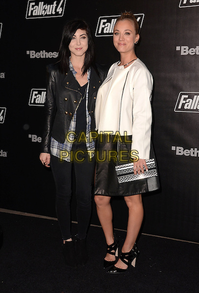 05 November - Los Angeles, Ca - Briana Cuoco, Kaley Cuoco. Arrivals for the official launch party of the video game &quot;Fallout 4&quot; held at a private location in Downtown LA.  <br /> CAP/ADM/BT<br /> &copy;BT/ADM/Capital Pictures