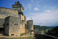 Castelnaud, Sarlat, France. ancient architecture, tower,. Sarlat France.