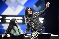 Milano 02/11/2017 - trasmissione Tv  X-Factor foto Daniele Buffa/Image/Insidefoto <br /> nella foto: Manuel Agnelli-Claudia Lagona Levante Levante