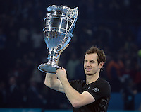 Andy Murray (GBR)(1) with Trophy during Day Eight of the Barclays ATP World Tour Finals 2015 played at The O2 Arena, London on November 20th  2016<br /> <br /> <br /> <br /> <br /> <br /> <br /> <br /> <br /> <br /> <br /> <br /> <br /> <br /> <br /> <br /> <br /> <br /> <br /> <br /> <br /> <br /> <br /> <br /> <br /> <br /> <br /> <br /> <br /> <br /> <br /> <br /> <br /> <br /> <br /> <br /> <br /> <br /> <br /> <br /> <br /> <br /> <br /> <br /> <br /> <br /> <br /> <br /> <br /> <br /> <br /> <br /> <br /> <br /> <br /> <br /> <br /> <br /> <br /> <br /> <br /> <br /> <br /> <br /> <br /> <br /> <br /> <br /> <br /> <br /> <br /> <br /> <br /> <br /> <br /> <br /> <br /> <br /> <br /> <br /> <br /> <br /> <br /> <br /> <br /> <br /> <br /> <br /> <br /> <br /> <br /> <br /> <br /> <br /> <br /> <br /> <br /> <br /> <br /> <br /> <br /> <br /> <br /> <br /> <br /> <br /> <br /> <br /> <br /> <br /> <br /> <br /> <br /> <br /> <br /> <br /> <br /> <br /> <br /> <br /> <br /> <br /> <br /> <br /> <br /> <br /> <br /> <br /> <br /> <br /> <br /> <br /> <br /> <br /> <br /> <br /> <br /> <br /> <br /> <br /> <br /> <br /> <br /> <br /> <br /> <br /> <br /> <br /> <br /> <br /> <br /> <br /> <br /> <br /> <br /> <br /> <br /> <br /> <br /> <br /> <br /> <br /> <br /> <br /> <br /> <br /> <br /> <br /> <br /> <br /> <br /> <br /> <br /> <br /> <br /> <br /> <br /> <br /> <br /> <br /> <br /> <br /> <br /> <br /> <br /> <br /> <br /> <br /> <br /> <br /> <br /> <br /> <br /> <br /> <br /> <br /> <br /> <br /> <br /> <br /> <br /> <br /> <br /> <br /> <br /> <br /> <br /> <br /> <br /> <br /> <br /> <br /> <br /> <br /> <br /> <br /> <br /> <br /> <br /> <br /> <br /> <br /> <br /> <br /> <br /> <br /> <br /> <br /> <br /> <br /> <br /> <br /> <br /> <br /> <br /> <br /> <br /> <br /> <br /> <br /> <br /> <br /> <br /> <br /> Andy Murray  (GBR)(1) and Coach van Lendl  warming prior to the Final during Day Eight of the Barclays ATP World Tour Finals 2015 played at The O2