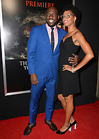 Omar J. Dorsey &amp; Conisha Wade at the premiere for &quot;Thank You For Your Service&quot; at the Regal LA Live Theatre. Los Angeles, USA 23 October  2017<br /> Picture: Paul Smith/Featureflash/SilverHub 0208 004 5359 sales@silverhubmedia.com