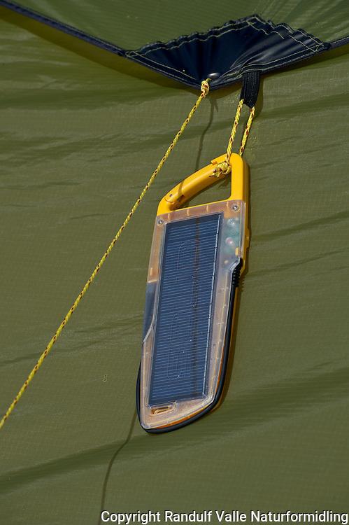 Solcellepanel for turbruk. ---- Solar cells.