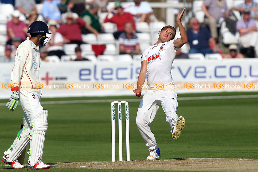 Aaron Beard in bowling action for Essex during Essex CCC vs Lancashire CCC, Specsavers County Championship Division 1 Cricket at The Cloudfm County Ground on 8th April 2017